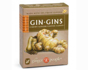 GIN GINS HOT COFFEE GINGER CANDY MASTICABLES DE JENGIBRE 20 CHEW
